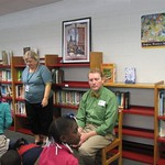 Tim Lowery entertains students at Mary Ford Elementary