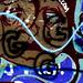 Small photo of Sad Face 34th Street Wall Graffiti Gainesville