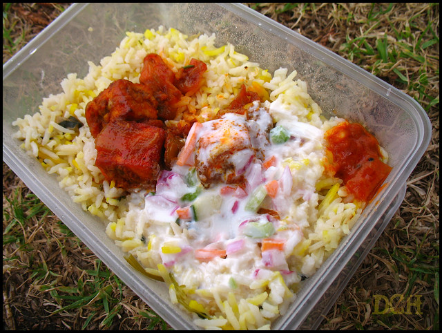 Paneer Biryani with Raita. Courtesy: Flikr