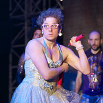 David Newman (Luciana) in William Shakespeare's 'The Comedy of Errors,' directed by Edward Hall at the Huntington. Boston University School of Theatre in association with Huntington Theatre Company presents Propeller Theatre Company in William Shakespeare's 'The Comedy of Errors,' performed in repertory with 'Richard III,' directed by Edward Hall, playing May 18 - June 19, 2011 at the Avenue of the Arts / BU Theatre. Photo: Manuel Harlan