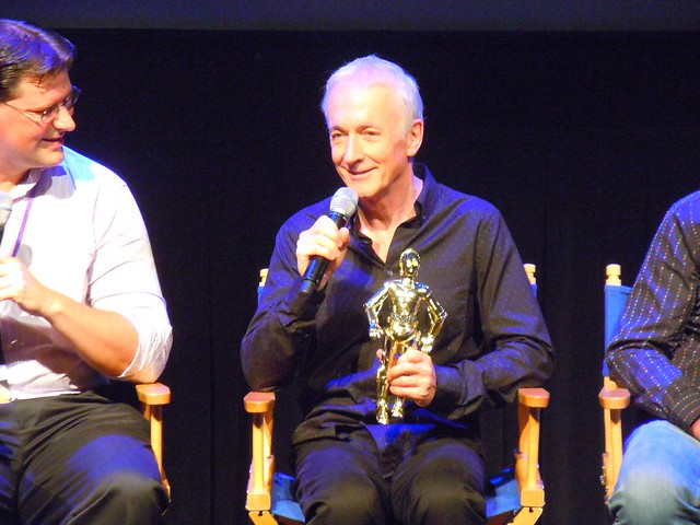 Anthony Daniels (C-3PO) at Star Tours press conference