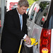 Agriculture Secretary at E85 Fuel Pump in Nashville, TN.
