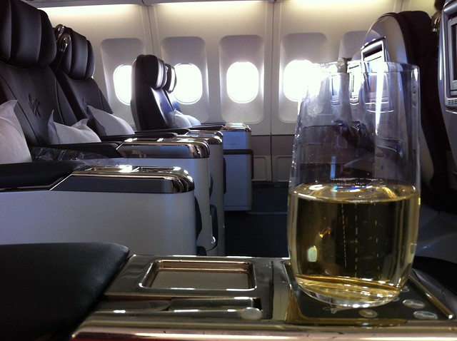 It's a hard life in business class...