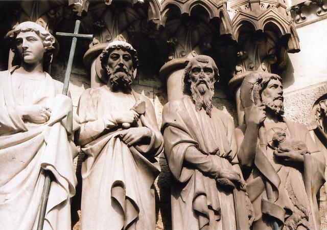 Saints. Saint Fin Barre's Cathedral, Cork, Ireland, Sep 2004