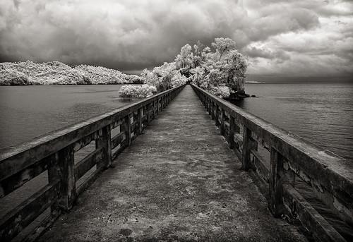 bridge harbor dominican republic nowhere infrared samana