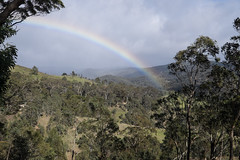 The rainbow from Wombeyan Caves Rd