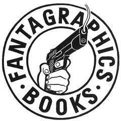 Fantagraphics Books logo - circle/gun by Jim Blanchard