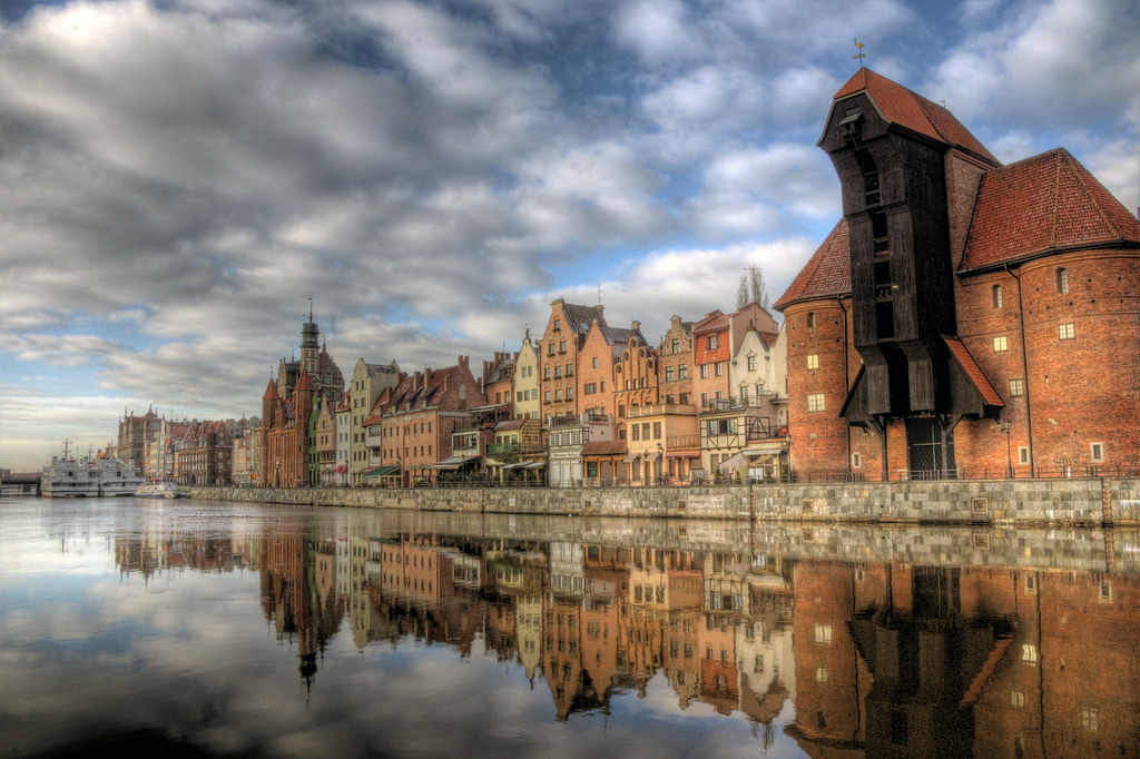 gdansk water reflections