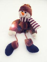 moustache(0.0), purple(0.0), art(1.0), textile(1.0), plush(1.0), stuffed toy(1.0), snowman(1.0), toy(1.0),