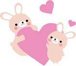 かわいいウサギの親子のイラスト1