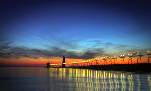sunset usa lake colors canon stars long exposure heaven michigan