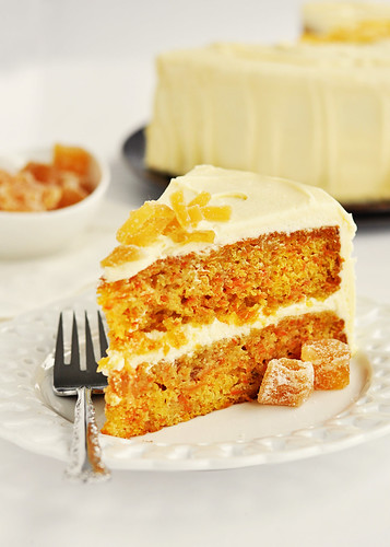 Zingy Orange Ginger Carrot Cake with White Chocolate Icing 3 by Sweetapolita