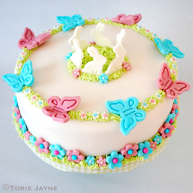 Easter chocolate simnel cake