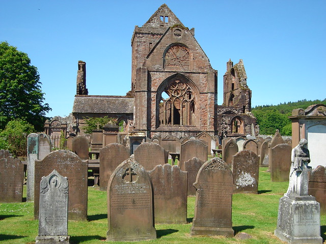 sweetheart abbey, dumfries and galloway
