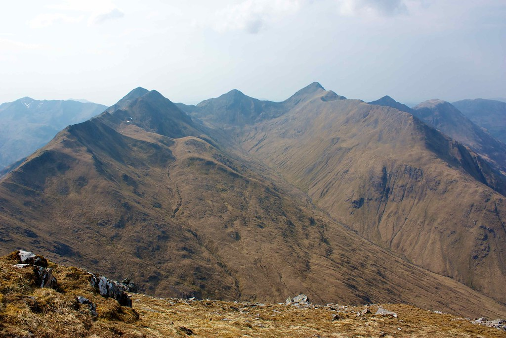 Coire Domhain surrounded by the Five Sisters