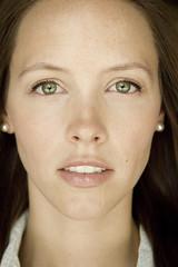 nose, freckle, chin, face, hairstyle, model, portrait photography, skin, lip, head, hair, eyelash, cheek, long hair, brown hair, close-up, mouth, eyebrow, forehead, beauty, portrait, eye, organ,