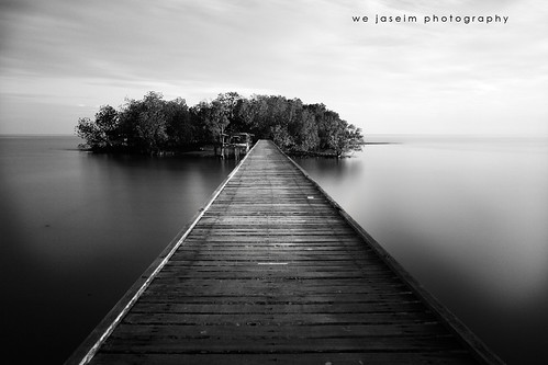 Bridge to Fantasy Island......B&W version....