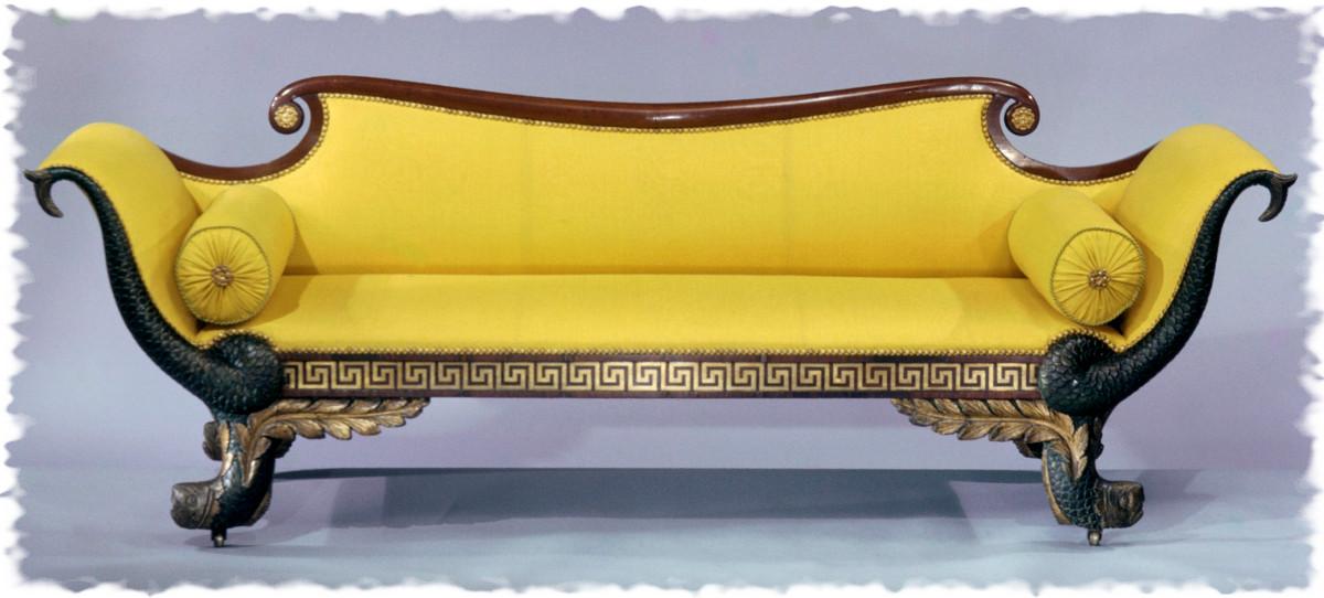 1820. Sofa. American. Mahogany, ash, maple, pine. metmuseum