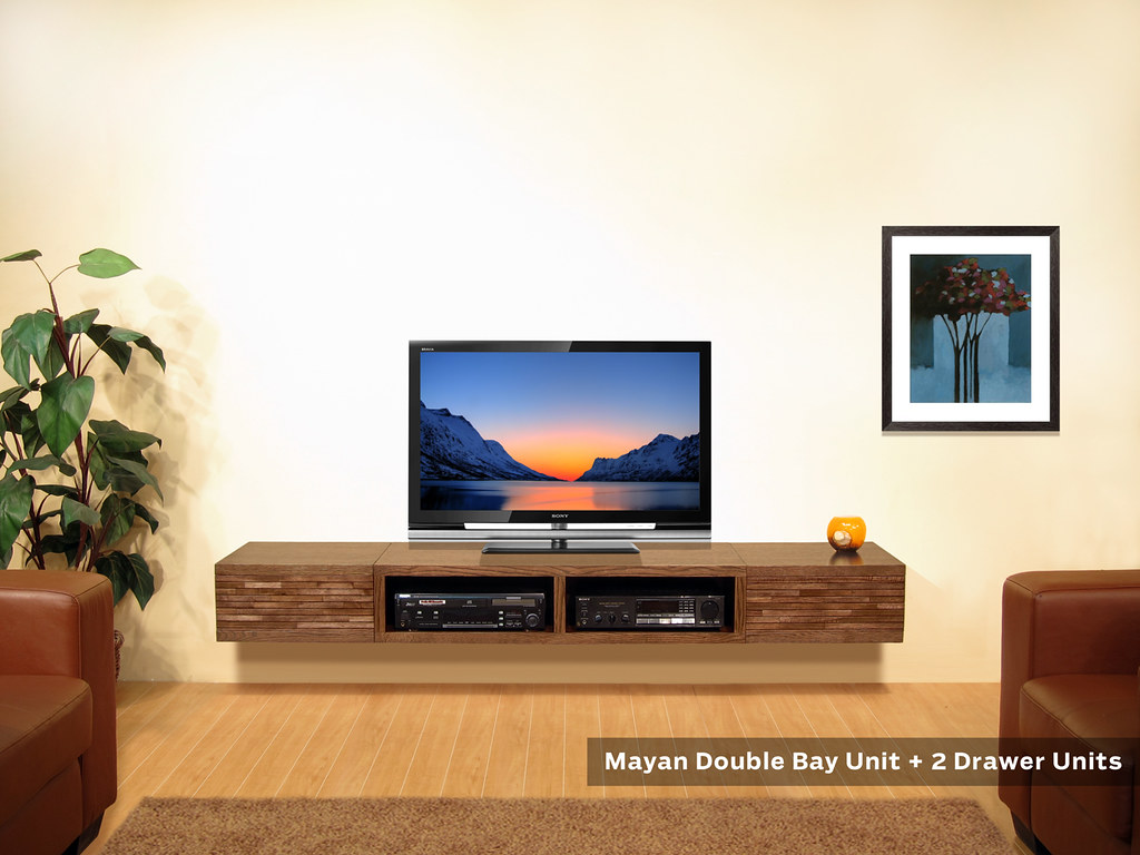 minimalist tv stand wall mounted mayan units