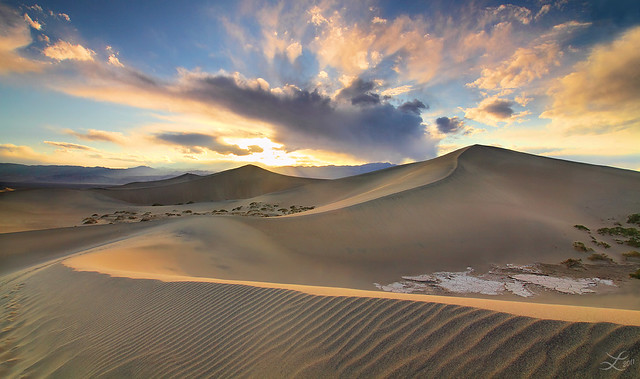 Heavenly Dunes In Death Valley