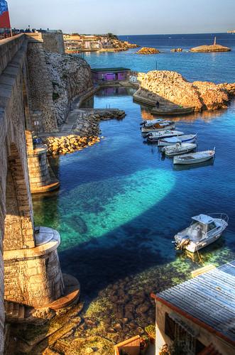 sea mer france port landscape boats marseille view bateaux corniche provence paysage hdr vallondesauffes 3xp