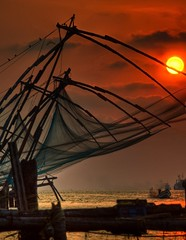 Chinese Fishing Nets in Kochi (Cochin)