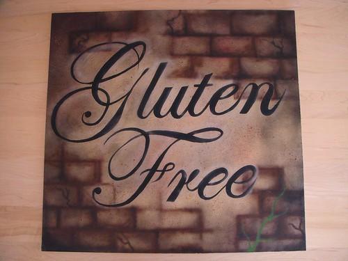 Pizzaberg sign, gluten free