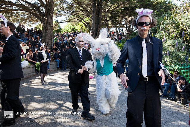 BYOBW: Easter Bunny with Secret Service Agent Escort