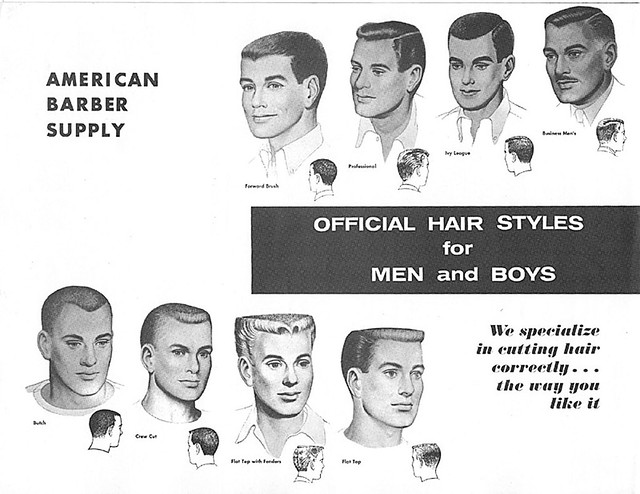 Vintage Men's Haircut Chart