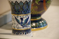 art, yellow, pottery, vase, ceramic, blue, porcelain,