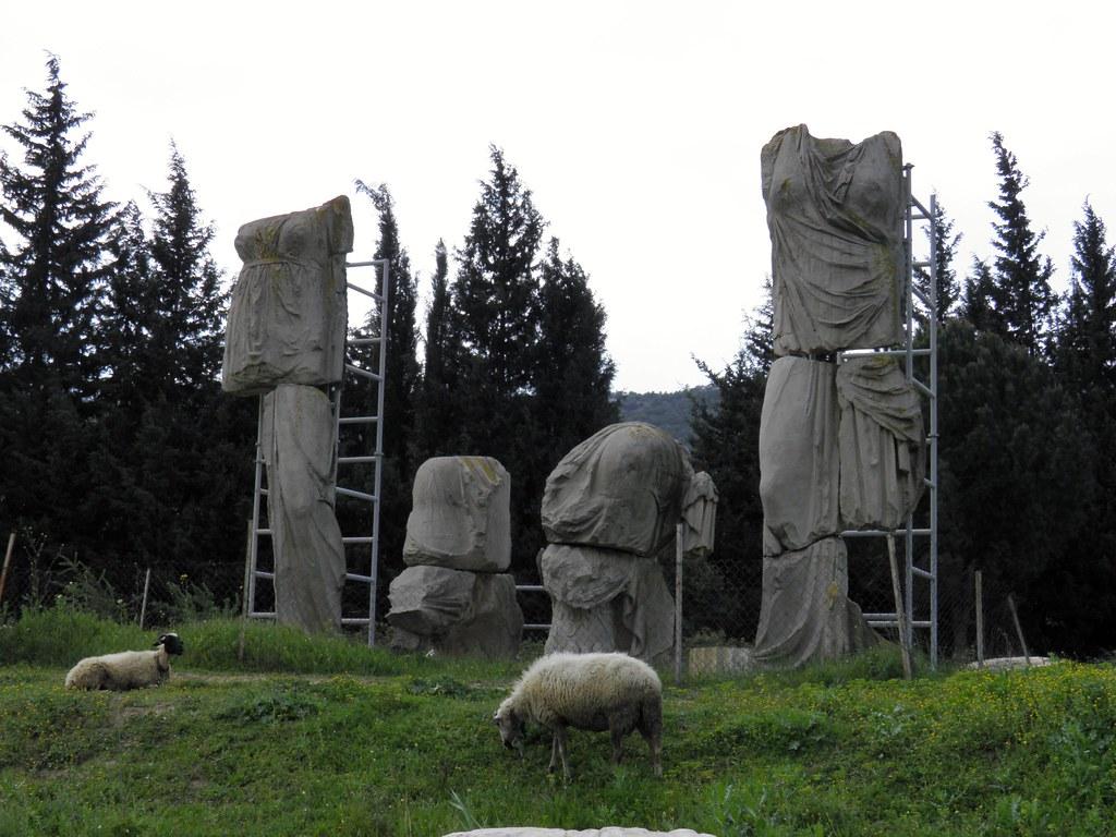 Reconstuction of statues of Artemis, Temple of Apollo, Klaros