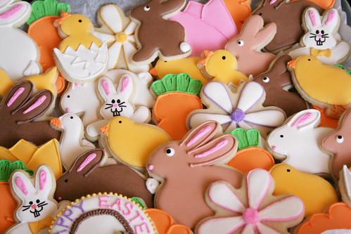Easter Cookies platter.