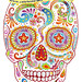 Psychedelic Sugar Skull Drawing