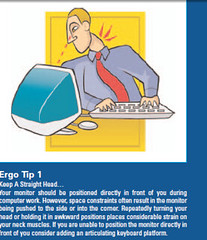 ergonomic tip from One Work Place
