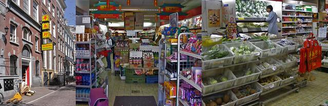 Aziatische winkel Wah Nam Hong in Amsterdam