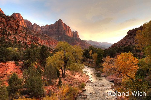 Zion National Park - The Watchman and Virgin River HDR
