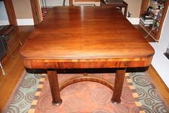 billiard room(0.0), billiard table(0.0), antique(0.0), floor(1.0), furniture(1.0), wood(1.0), coffee table(1.0), room(1.0), wood stain(1.0), table(1.0), wood flooring(1.0), hardwood(1.0), desk(1.0),