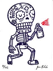 Graffiti Calavera Gocco ACEO Print