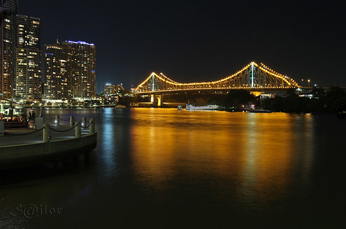 Golden Gate  -  Story Bridge Brisbane Queensland Australia