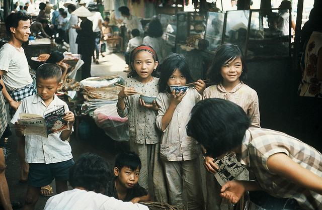Saigon Market Kids 1966