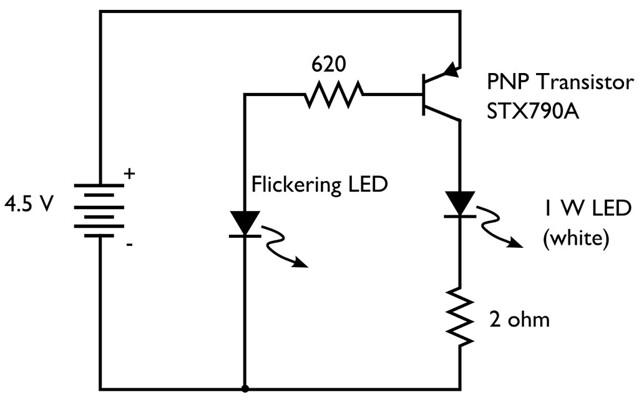 flicker led circuit
