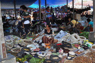 Bukit Lawang Market - Selling all kinds of stuff