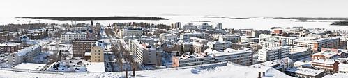 city winter snow cold finland island coast scenery view shore archipelago kemi