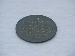Photo of Jacob Epstein stone plaque