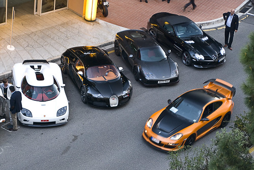 Koenigsegg CCX, Bugatti Veyron Sang Noir, Noble M600, McLaren Gemballa SLR Roadster and Gemballa Avalanche GTR 800 EVO-R in Monaco EXPLORED! #2 Top Marques 2011