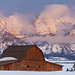 Moulton Barn Winter -- Teton Range, WY