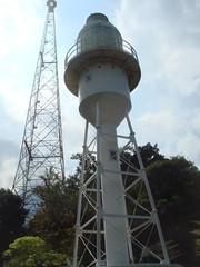 radio tower and lighthouse