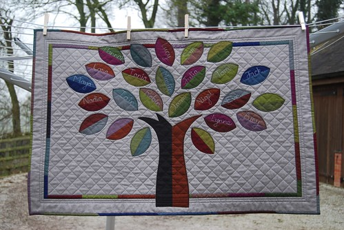 Family Tree quilt for my Mum