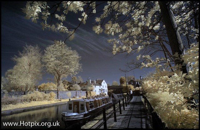 Lymm canalside, Cheshire UK Colour IR