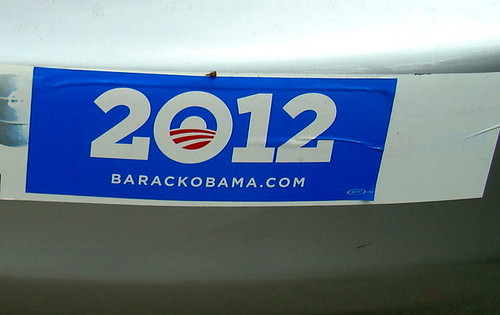 Obama 2012 Bumper Sticker, Encinitas CA